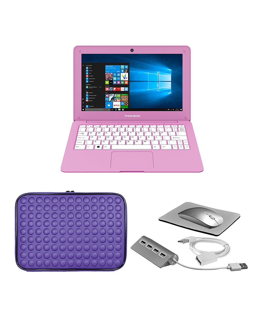 Pink Thomson Neo 11.6'' 32GB Notebook Bundle