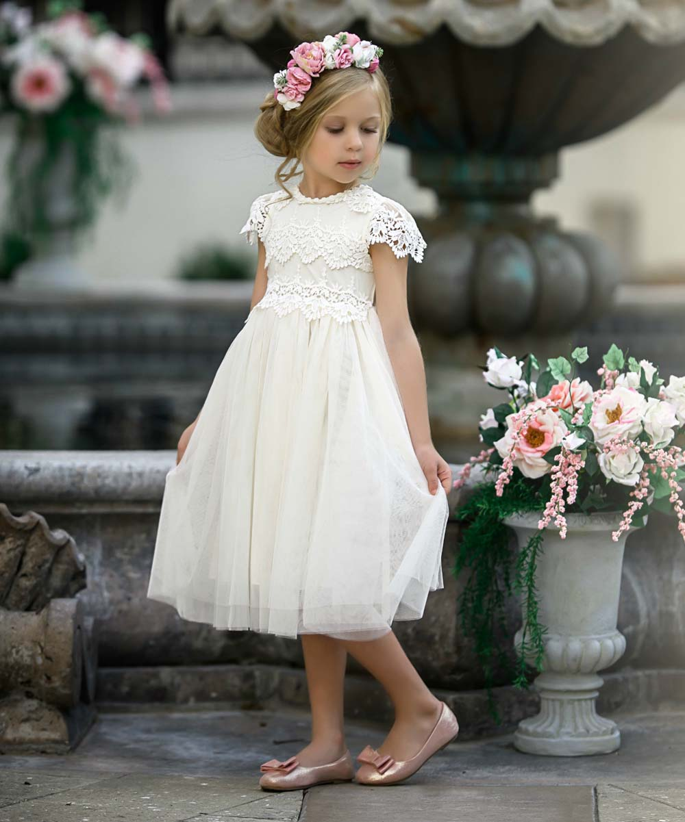 457c907f576 Ivory Lace Special Occasion Dress - Gomes Weine AG