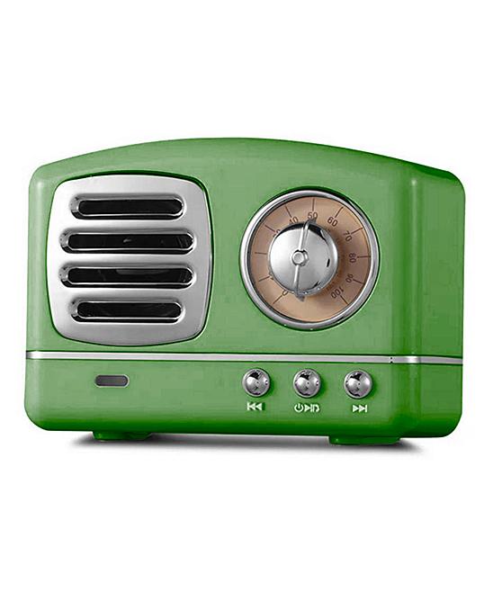 Tech Zebra  Wired Speakers Green - Green Portable Retro Bluetooth Speaker