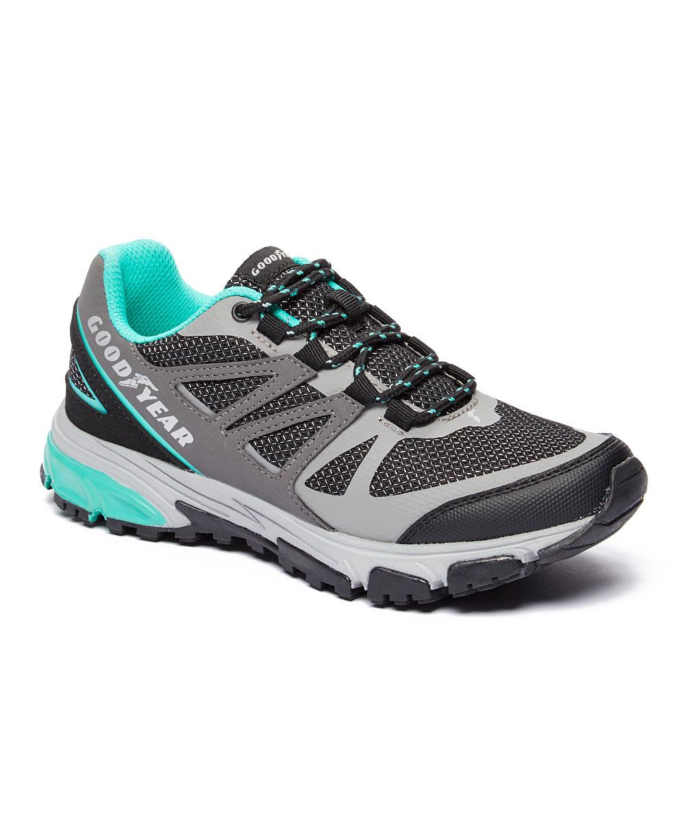 Goodyear Footwear Women's Hiking Shoes Grey/Aqua - Gray & Aqua Zerga Sneaker - Women