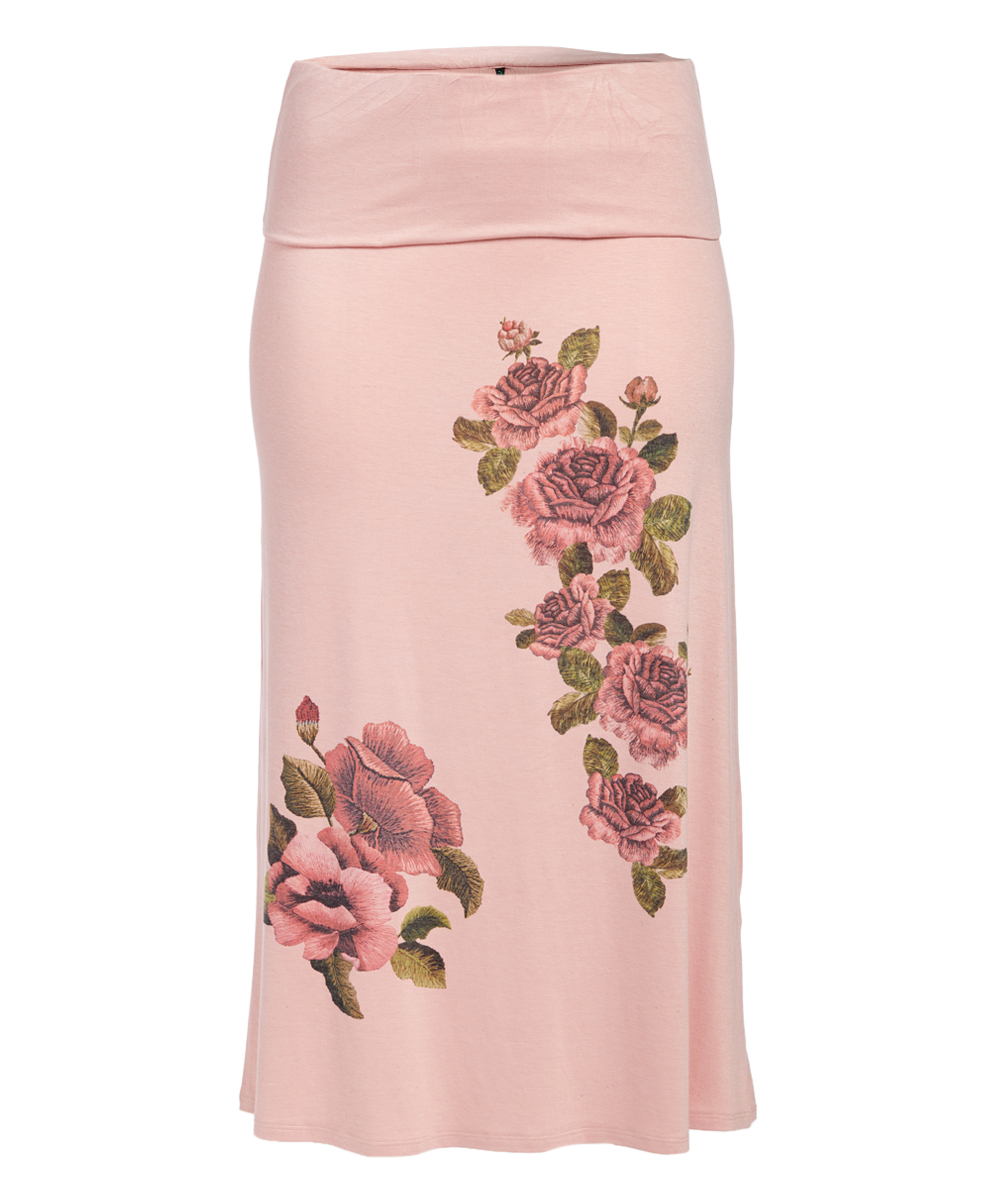 c0106ee68 Poliana Plus Pink & Red Floral Maxi Skirt - Women & Plus | Zulily