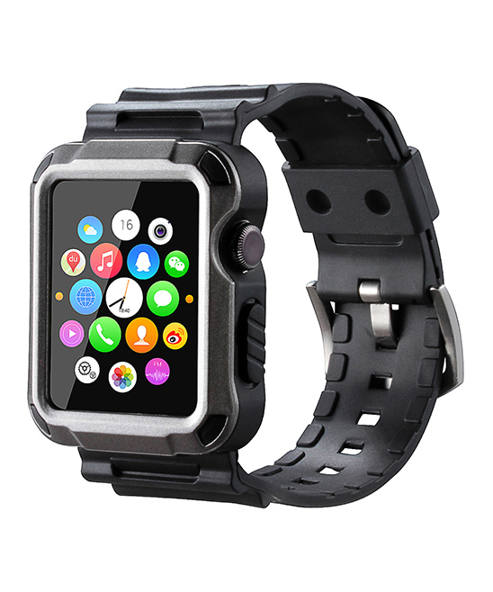 Waloo  Replacement Bands Space - Space Gray Tough Armor Apple Watch Strap & Case