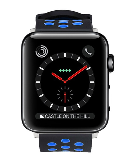 Waloo  Replacement Bands Black/Blue - Black/blue Breathable Apple Watch Sport Band