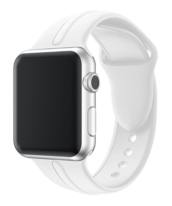 Waloo  Replacement Bands White - White Sport Band For Apple Watch Series 1/2/3/4