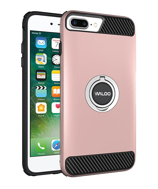Waloo  Cellular Phone Cases Pink - Pink Carbon Fiber Case for iPhone 6/6s/6s Plus/7/8/X/XS