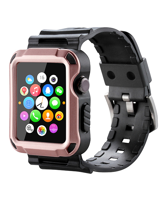 Waloo  Replacement Bands Rose - Rose Gold Tough Armor Apple Watch Strap & Case