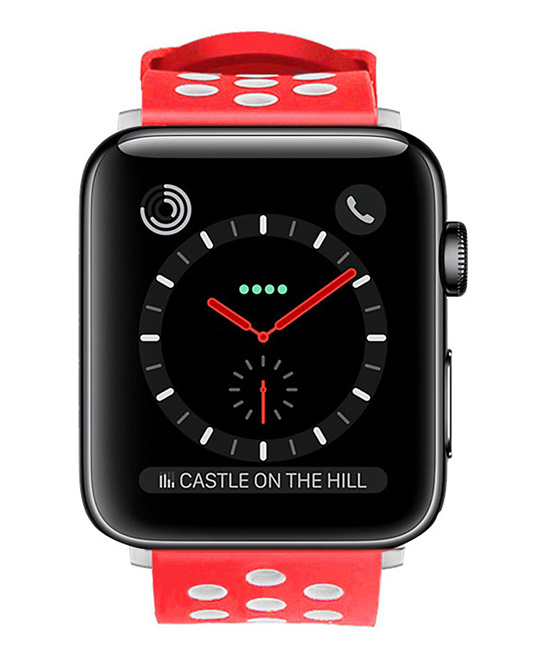 Waloo  Replacement Bands Red/White - Red/white Breathable Sport Band for All Apple Watch 1/2/3/4