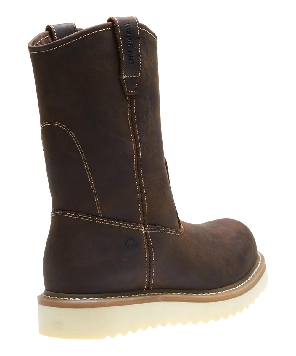 6efc948f9a3 Wolverine Brown Loader Steel-Toe Leather Work Boot - Men