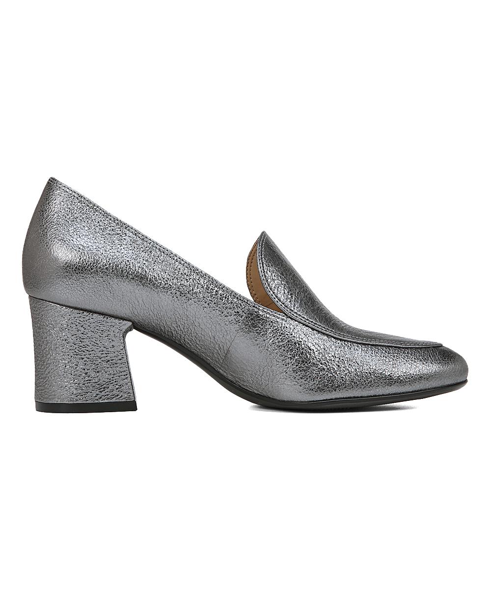 9fcb9168582 ... Womens PEWTER SPARKLEMETLTHR Pewter Sparkle Dany Heeled Loafer -  Alternate Image 3 ...