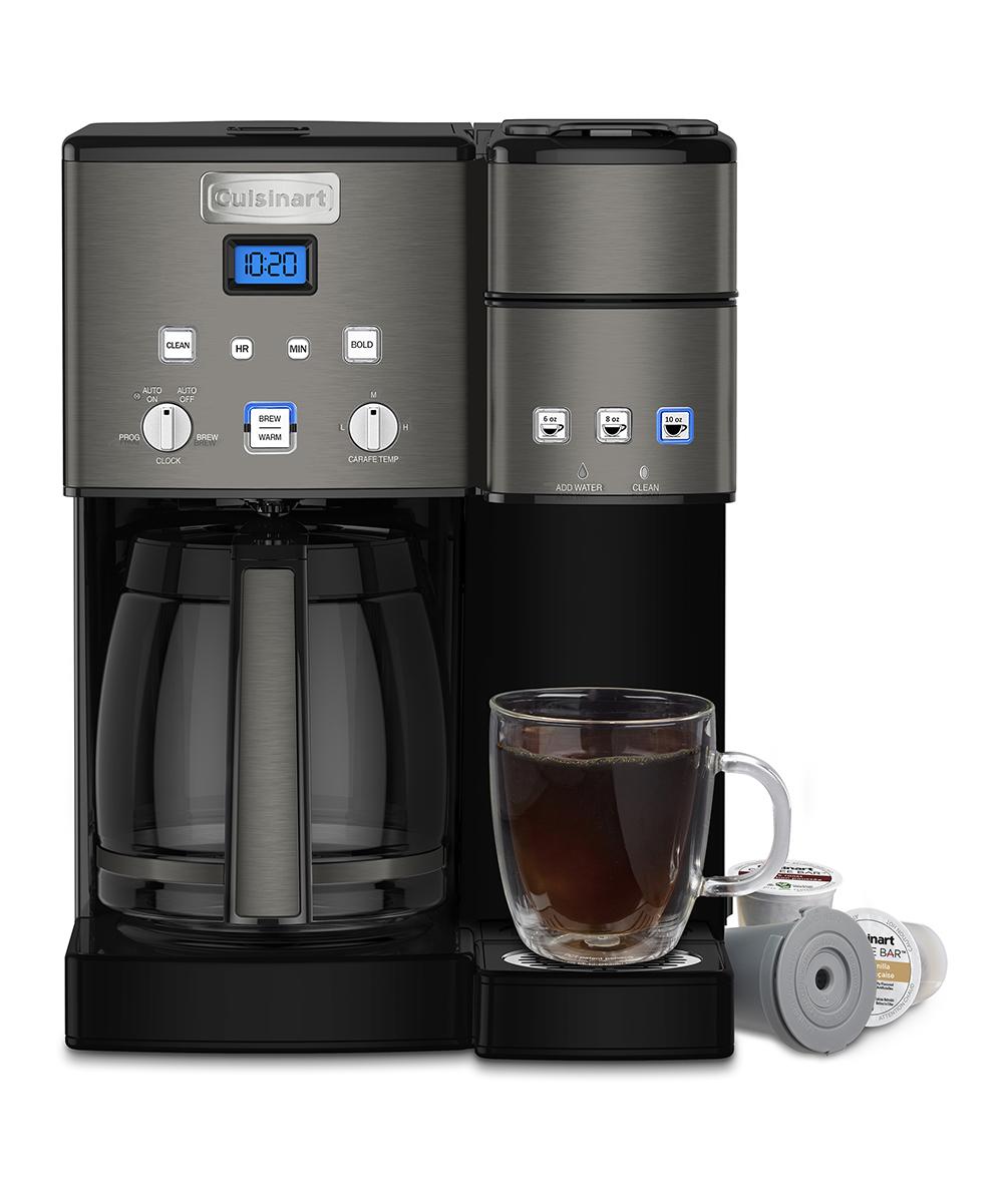 Cuisinart Black 12 Cup Coffee Center Coffee Makersingle Serve