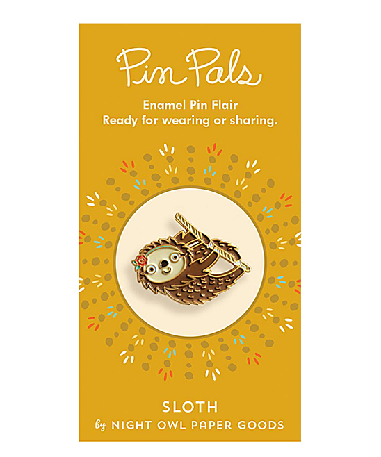 Night Owl Paper Goods  Brooches and Pins  - Sloth Enamel Pin