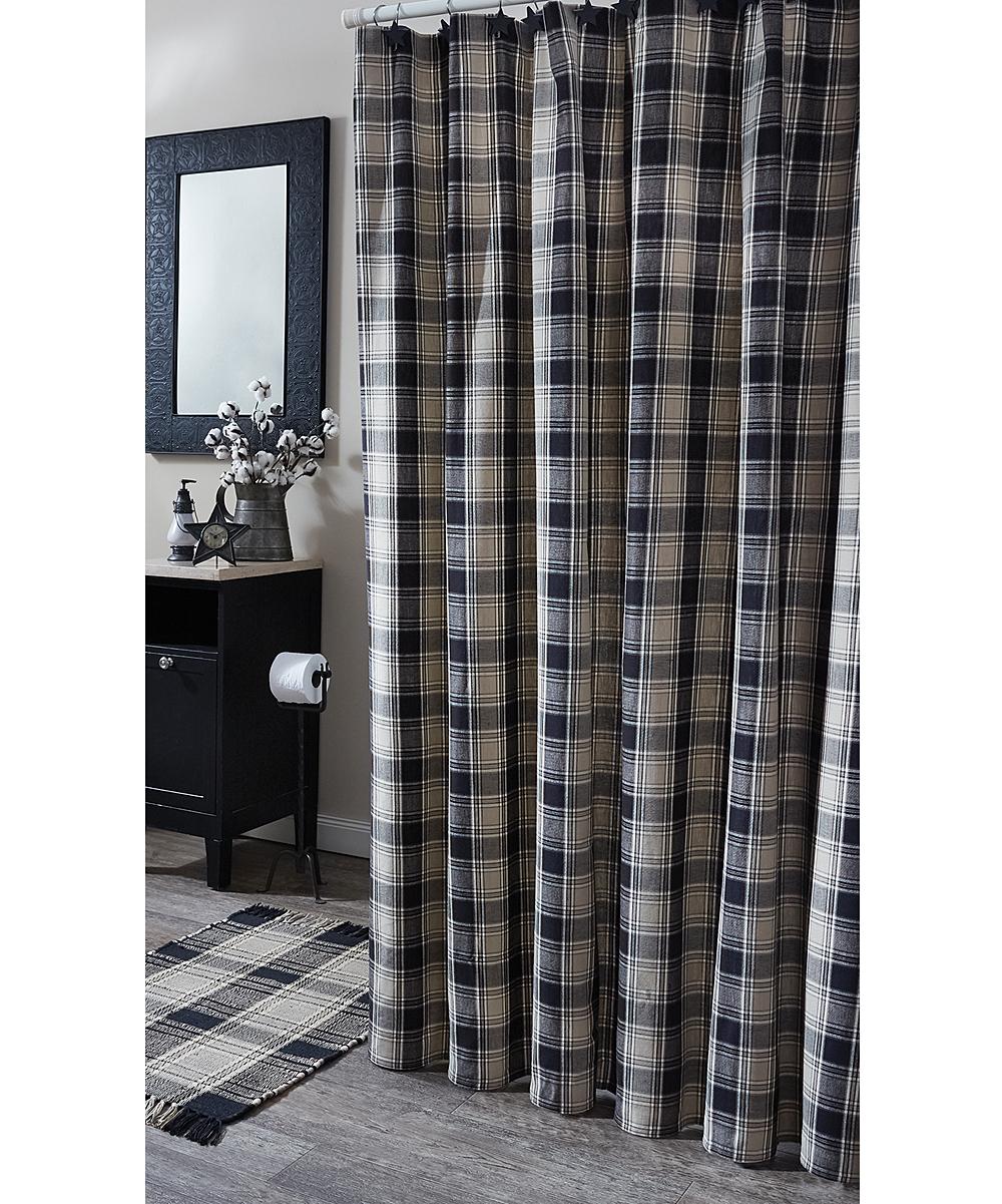 . Park Designs Plaid Soapstone Shower Curtain