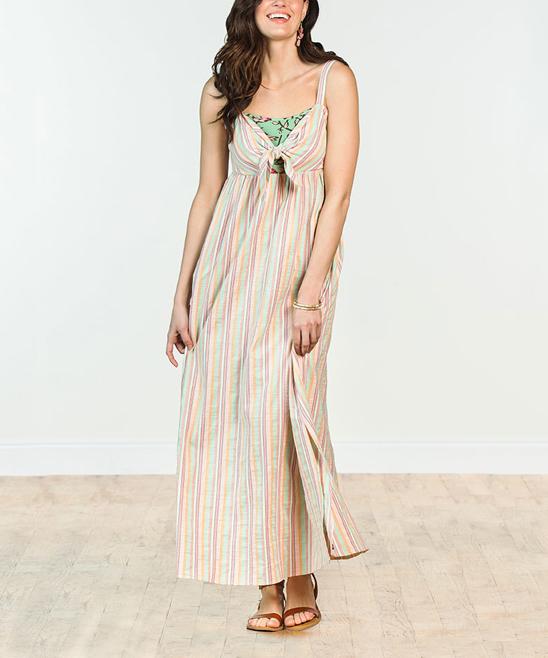 99693dfc108 Matilda Jane Clothing Green   Pink Stripe No Baggage Maxi Dress ...