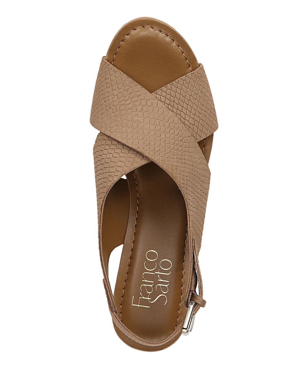 fedac67a0e8 Franco Sarto Havana Python-Embossed Mackenzie Leather Sandal - Women ...