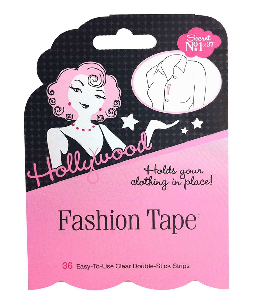 Flat Fashion Tape Flat Fashion Tape. Ensure your outfit stays in place and looking polished with this handy fashion tape boasting a fabric-safe adhesive. Includes 36 piecesPolyethylene film / acrylate adhesiveDisposable