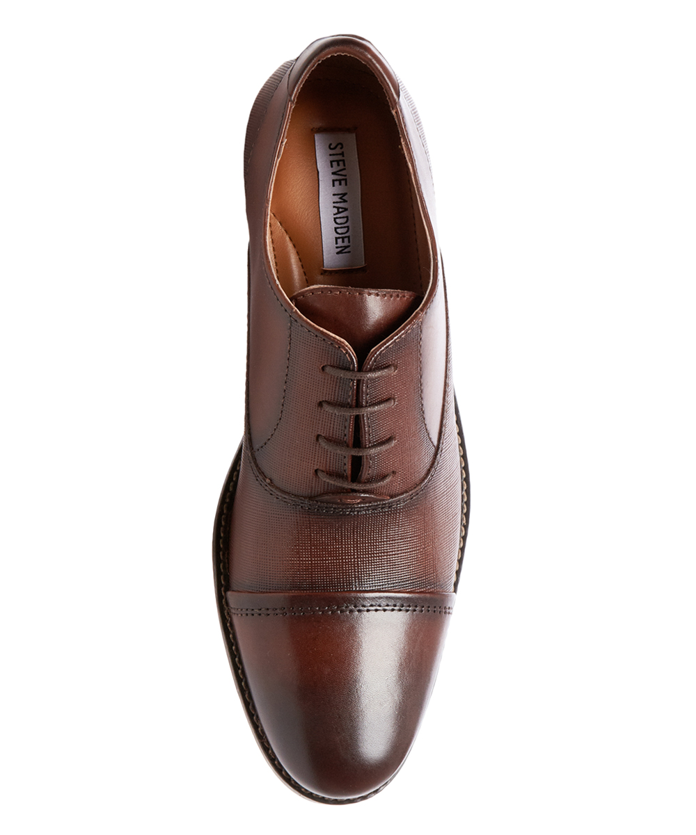 d68ccf95457 Steve Madden Cognac Finnch Leather Oxford - Men
