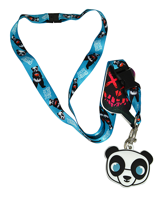 Suicide Squad Panda Lanyard Suicide Squad Panda Lanyard. Bring villainous flair to your ensemble with this lanyard featuring a pendant based on the Joker's panda-costumed henchman. Imported