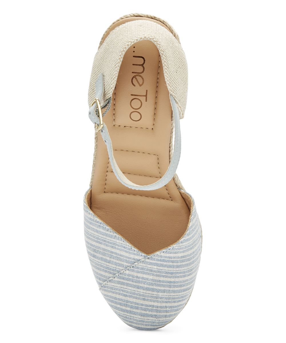 840eb1167f8 ... Womens CREAM BLUE FABRIC Cream   Blue Brenna Sandal - Alternate Image  ...