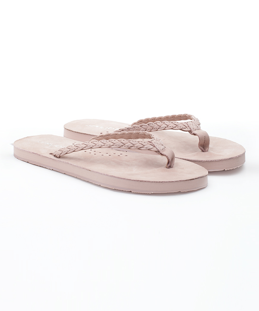 701cb95b52281 J/Slides Pink Nadia Leather Flip-Flop - Women
