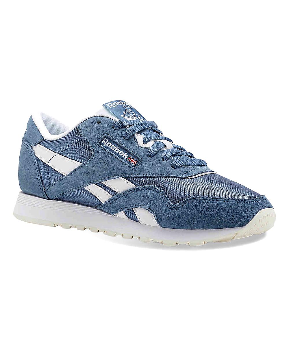 5de04404f79 Reebok Blue Slate   White Classic Nylon Sneaker - Women