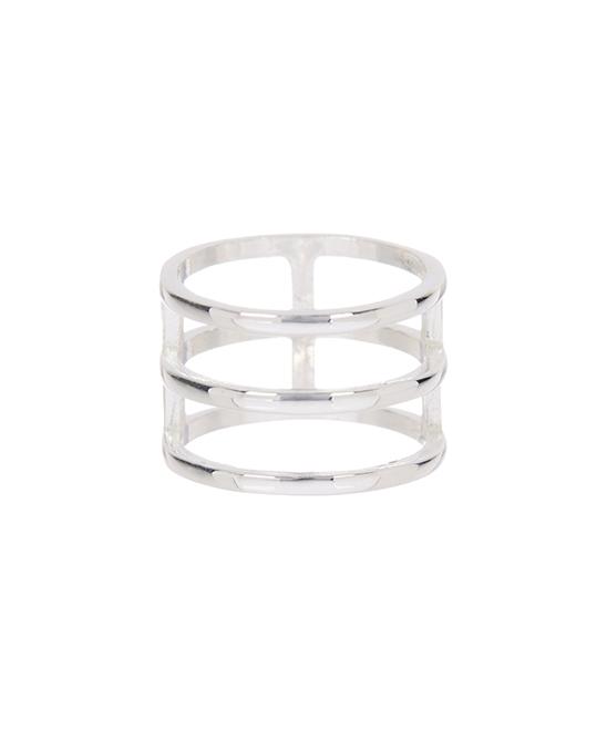 Best Silver Women's Rings  - Sterling Silver 3-Row Ring