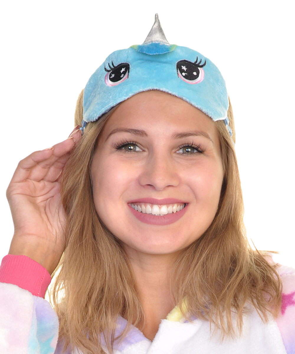 17ba35be2f5 ... Womens Blue Blue Unicorn Slipper   Eye Mask - Alternate Image ...