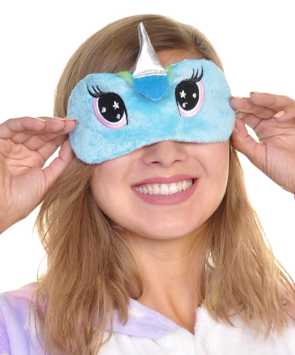 b5d916f7fd6 ... Womens Blue Blue Unicorn Slipper   Eye Mask - Alternate Image 3