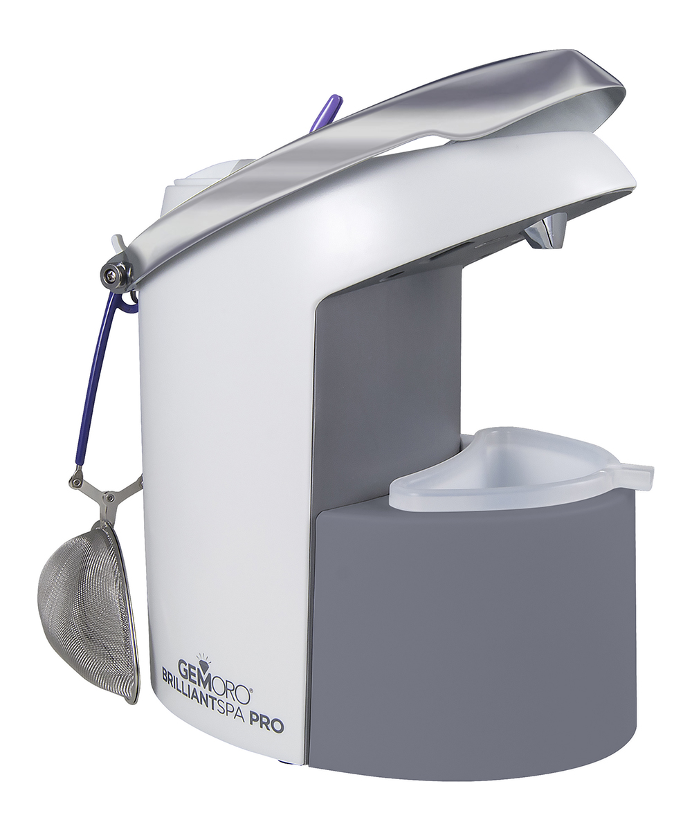 Brilliant Spa Pro Steam Cleaner Brilliant Spa Pro Steam Cleaner. Keep your jewelry sparkling like a pro with this steam cleaner that releases a high-pressure mist to blast away dirt and dust, leaving your accessories glittering like new. 6'' W x 10'' H x 10'' DImported