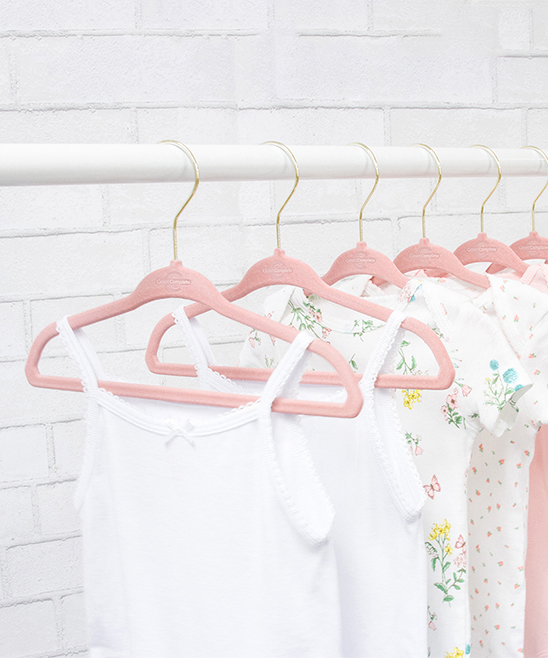 Closet Complete Women's Hangers light - Pink Children's Clothing Hangers - Set of 25 Pink Children's Clothing Hangers - Set of 25.  Organize your little one's wardrobe with this durable pack of velvet hangers designed to cling to delicate fabrics for a strong hold that will prevent a messy closet. Includes 25 hangersPlasticImported