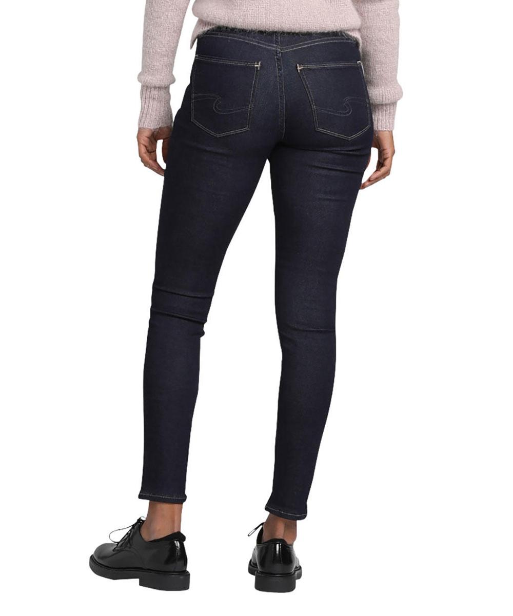 81015844 Silver Jeans Co. Dark Indigo Mazy Skinny Jeans - Women | Zulily