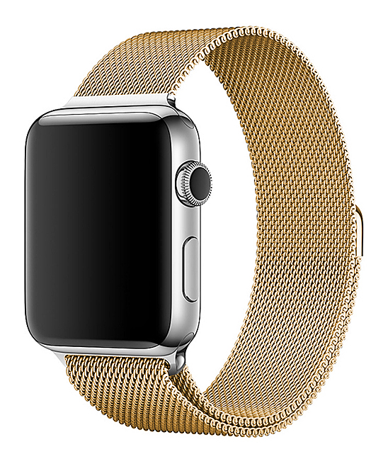 Epic Deals  Replacement Bands Gold - Goldtone Steel Mesh Smartwatch Band for Apple Watch