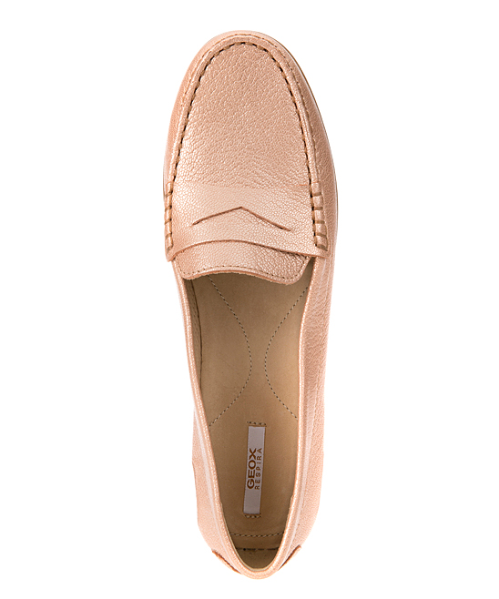 b99664f1cde58 Geox Rose Gold Elidia Leather Moccasin - Women