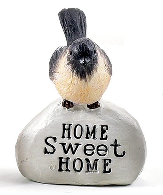 'Home Sweet Home' Mini Garden Bird Figurine