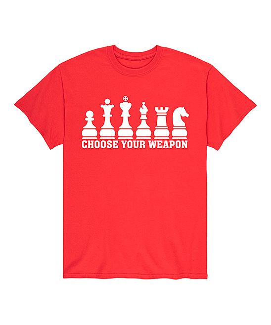 Instant Message Mens Men's Tee Shirts Red - Red 'Choose Your Weapon' Tee - Men