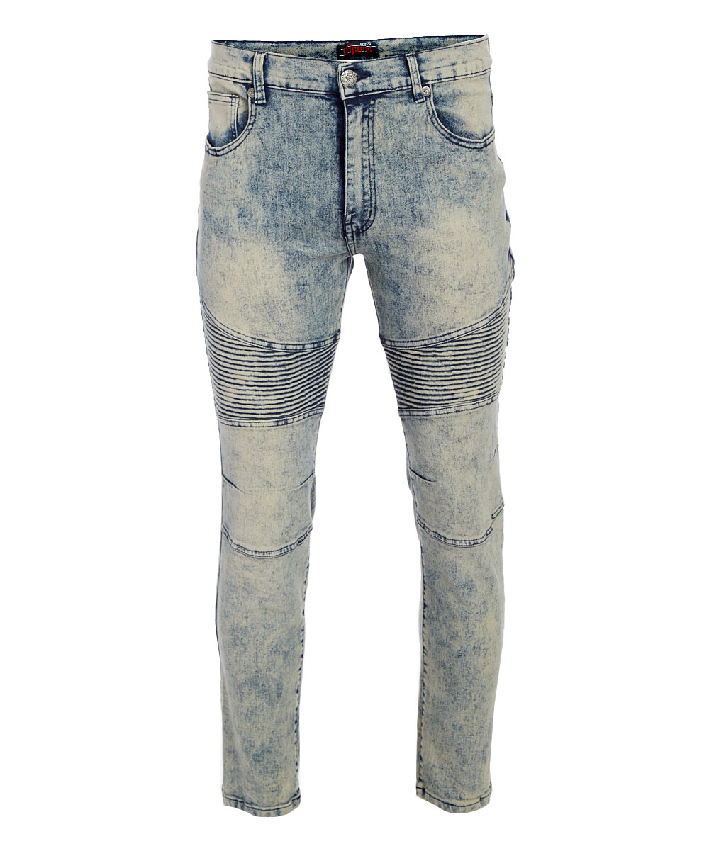 Vintage Fashion Motto Stretch Jeans - Men Vintage Fashion Motto Stretch Jeans - Men. Give him the gift of style with this uniquely designed pair of jeans that have a hint of stretch. 76% cotton / 12% polyester / 2% spandexMachine washImported