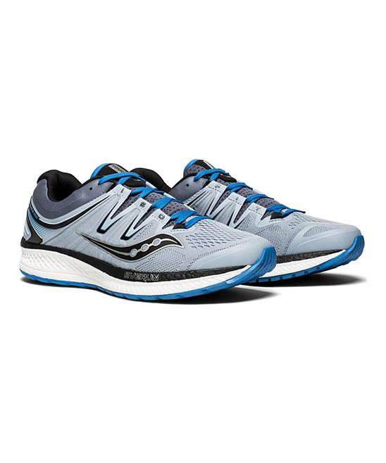 Saucony Men's Running Shoes GREY/BLUE/BLACK - Gray & Blue Hurricane ISO 4 Running Shoe - Men