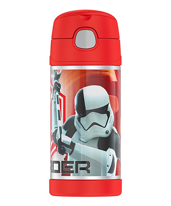 Star Wars Executioner Insulated Straw 12-Oz. Thermos Star Wars Executioner Insulated Straw 12-Oz. Thermos. Crafted with a fun-loving graphic, this insulated thermos will keep little one's beverages at the right temperature all day.Includes thermos, lid and attached strawHolds 12 oz.Stainless steel / plasticHand washImported