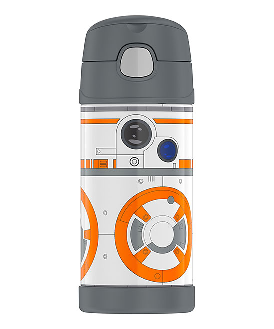 Star Wars BB8 Insulated Straw 12-Oz. Thermos Star Wars BB8 Insulated Straw 12-Oz. Thermos. Crafted with a fun-loving graphic, this insulated thermos will keep little one's beverages at the right temperature all day.Includes thermos, lid and attached strawHolds 12 oz.Stainless steel / plasticHand washImported