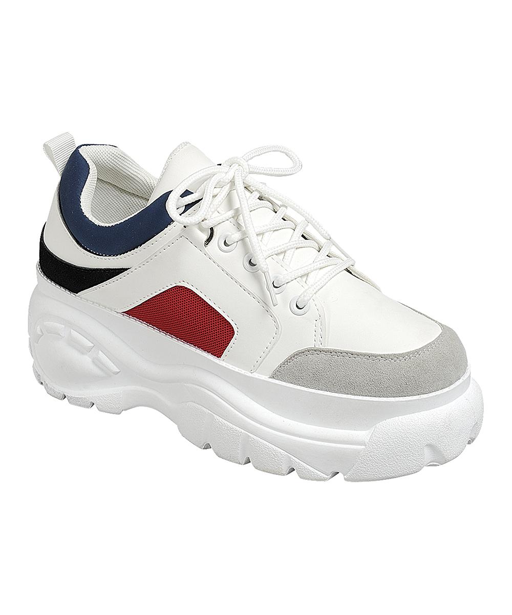 Forever Link Shoes Women's Sneakers NAVY - Navy Grey Hyatt Sneaker - Women