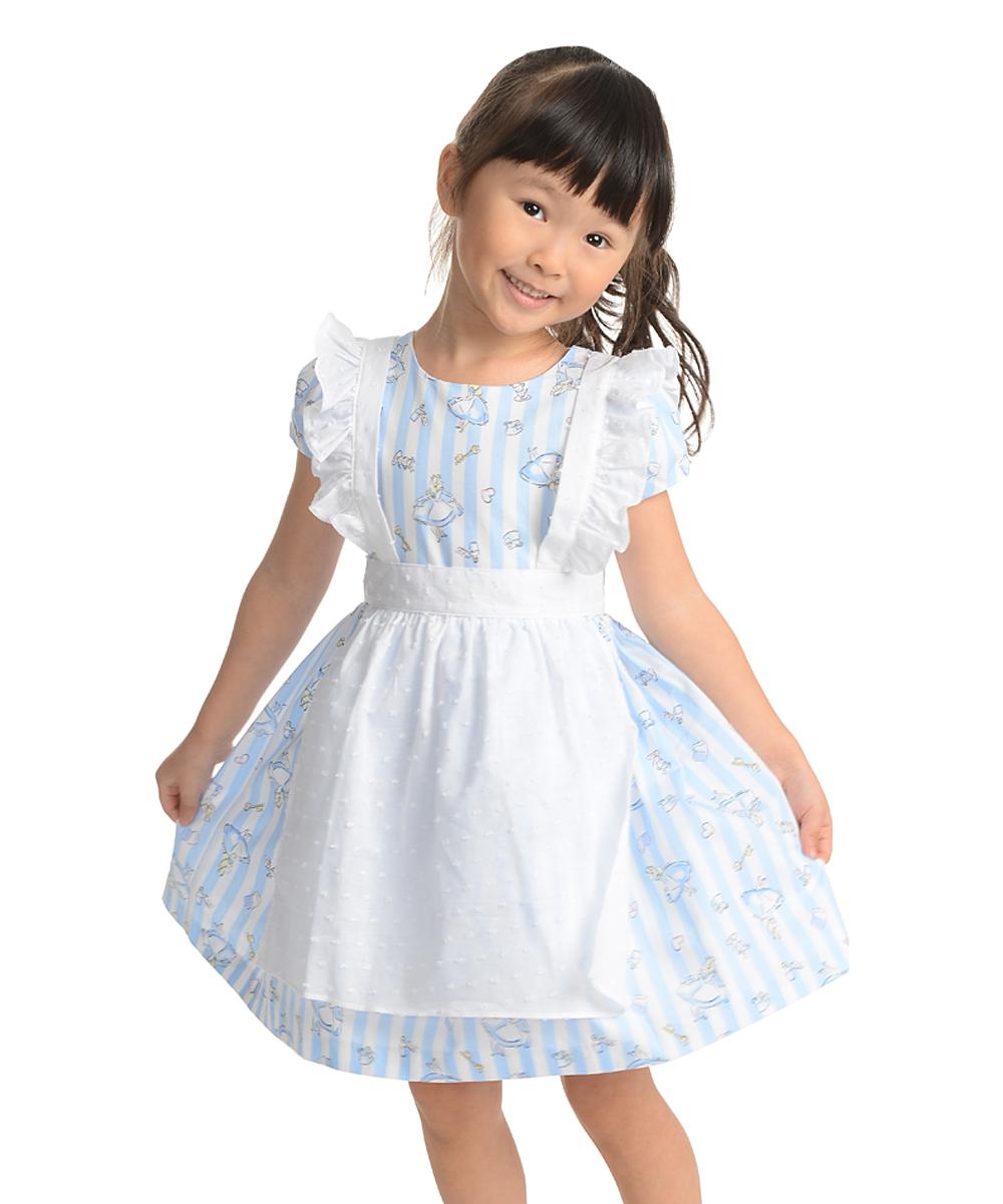 bca0ef24c525 Pippa & Julie Alice in Wonderland Blue & White Pinafore Dress ...