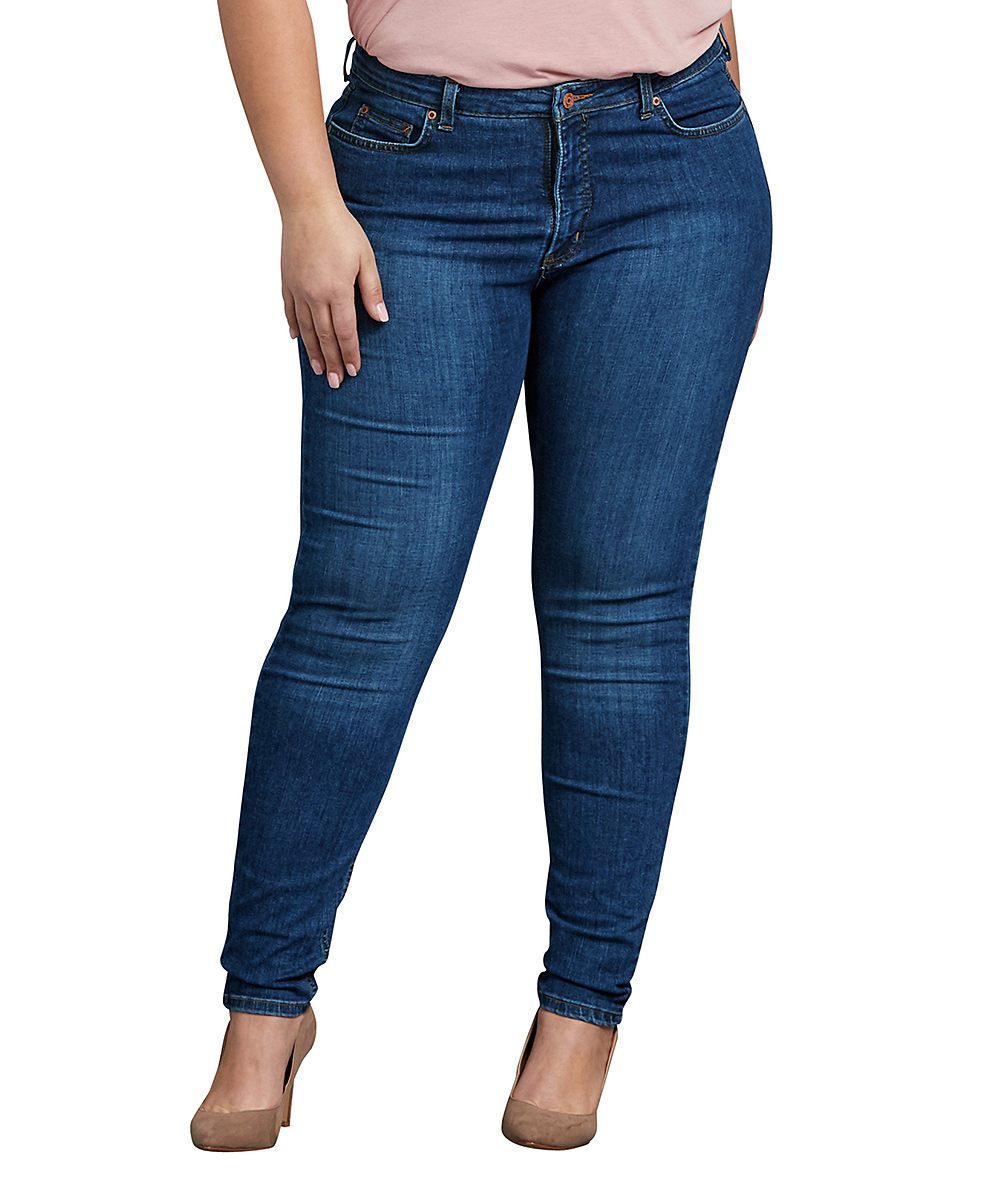 5d6a1fb91d0 all gone. Stone-Washed Indigo Blue Stretch Skinny Jeans - Plus
