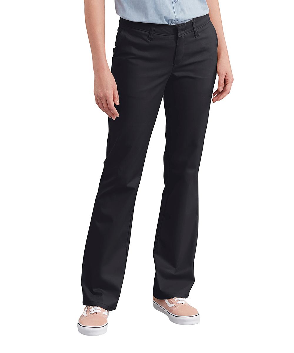Dickies Black Slim-Fit Stretch Twill Boot-Cut Pants - Plus  3a9ffa851d8b