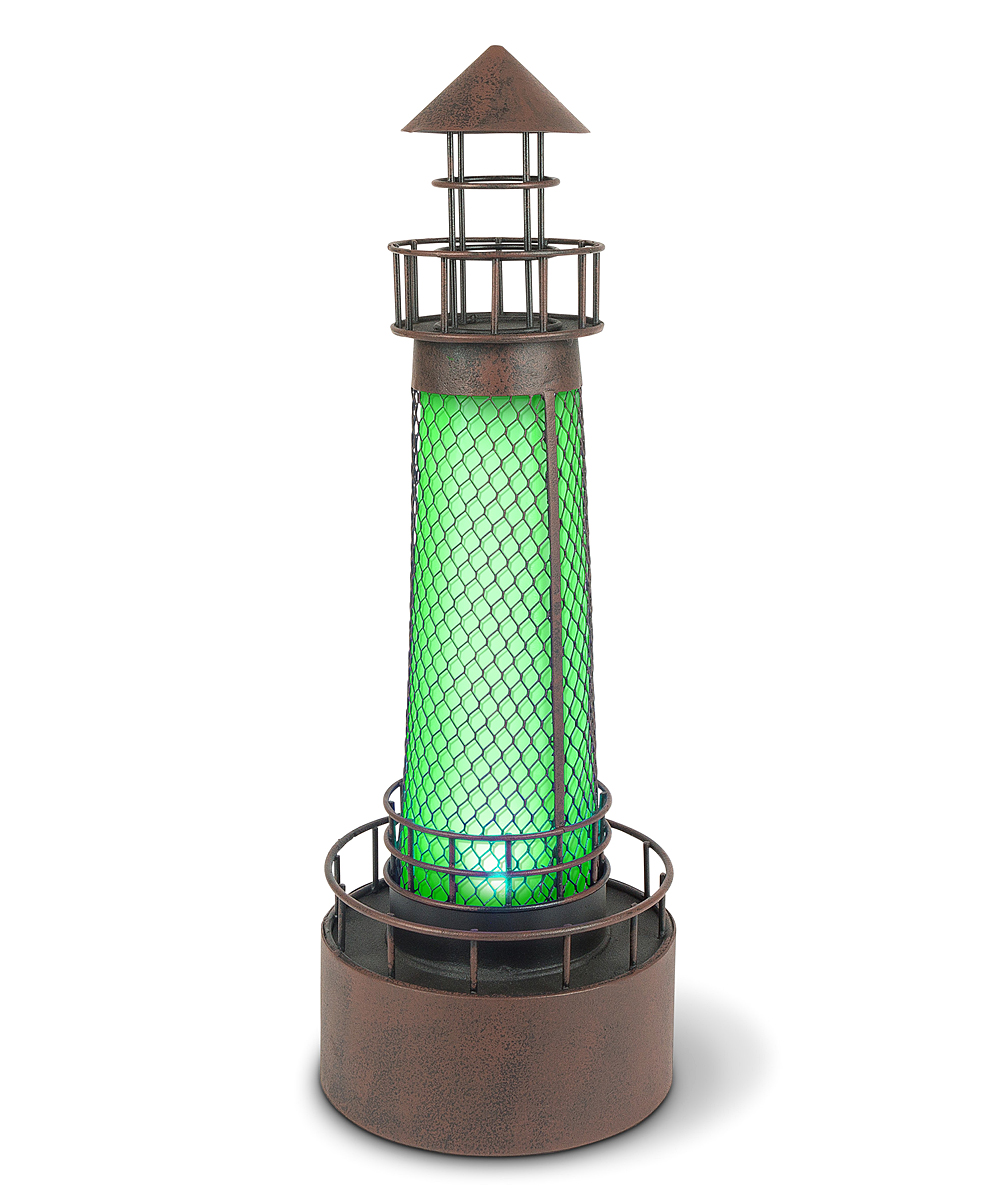 Garden Meadow  Solar Lighting  - Green Lighthouse Solar Outdoor Decor