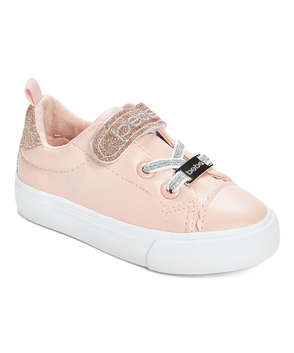 size 40 b4eed ebd1c bebe girls Blush & Rose Gold 'Bebe' Metallic Low-Top Sneaker - Girls