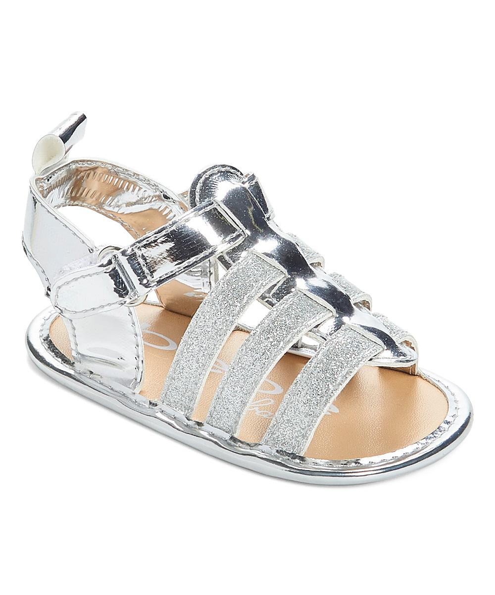 9d87846f9c87 bebe girls Silver Glitter Metallic Sandal - Girls | Zulily