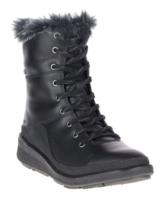 c155b4d572 Merrell Black Tremblant Ezra Lace Waterproof Ice+ Leather Boot - Women