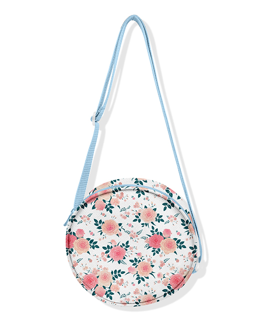 40380f5ef8 PeppyMini Sky Blue   White Floral Crossbody Bag