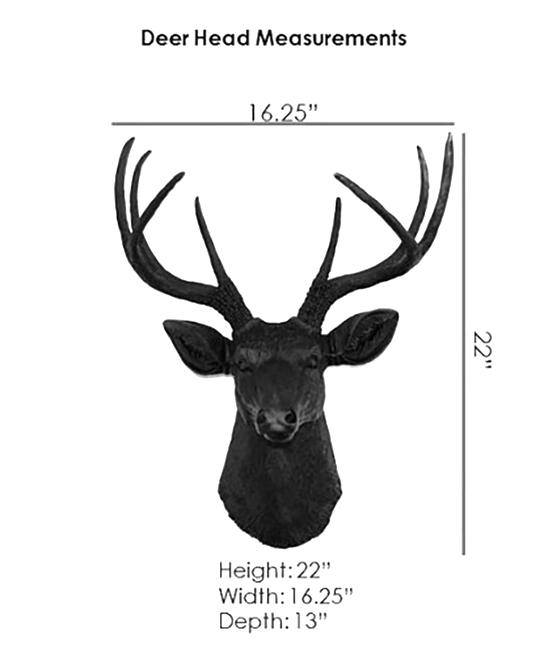superb Deer Head Wall Art Part - 15: Near u0026 Deer White u0026 Natural Deer Head Wall Art | Zulily