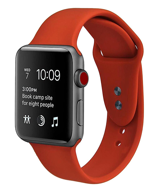 Center Link Media   Smart Watches Red - Red Smart Watch Silicone Band