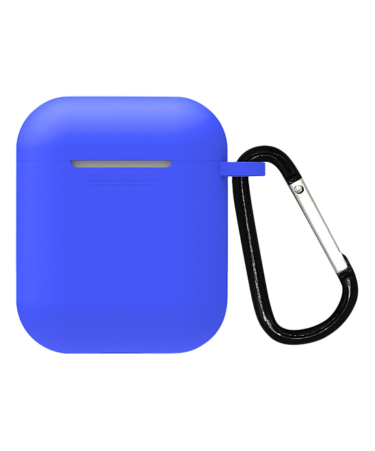 Blue Airpods Silicone Case Blue Airpods Silicone Case. Protect your Airpods when you're on the go with this lightweight case that provides a molded and secure fit. An included clip can attach to the inside of your purse or backpack to help you keep track of the case easily. Airpods not includedSiliconeImported